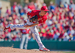 6 March 2016: St. Louis Cardinals pitcher Corey Littrell on the mound during a Spring Training pre-season game against the Washington Nationals at Roger Dean Stadium in Jupiter, Florida. The Nationals defeated the Cardinals 5-2 in Grapefruit League play. Mandatory Credit: Ed Wolfstein Photo *** RAW (NEF) Image File Available ***
