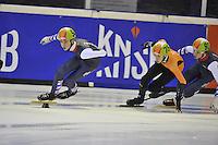 SHORTTRACK: AMSTERDAM: Jaap Edenbaan,  03-01-2016, NK Shorttrack, Jongens Junioren C, Hessel van Berkum (#94), Jens van 't Wout (#75), Niels Kingma (#93), ©foto Martin de Jong
