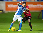 Brechin City v St Johnstone&hellip;26.07.16  Glebe Park, Brechin. Betfred Cup<br />Danny Swanson holds off Chris O&rsquo;Neil<br />Picture by Graeme Hart.<br />Copyright Perthshire Picture Agency<br />Tel: 01738 623350  Mobile: 07990 594431