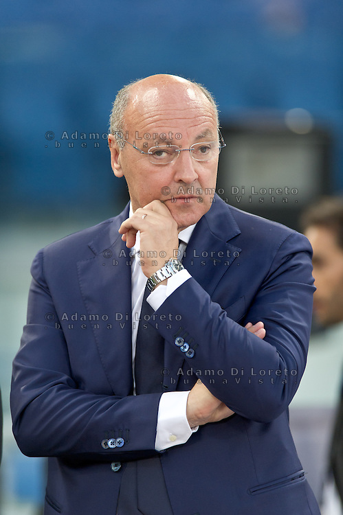 Juventus beat Lazio 4-0 in the Italian Supercoppa final match in Rome, Italy, on August 18, 2013. In the photo: Giuseppe Marotta Juventus manager. Photo: Adamo Di Loreto/BuenaVista*photo