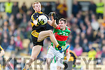 Fionn Fitzgerald Dr Crokes in Action against Evan Sweeney Loughmore-Castleiney in the Munster Senior Club Semi-Final at Crokes Ground, Lewis Road on Sunday