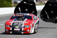 May 16, 2014; Commerce, GA, USA; NHRA pro mod driver Mike Janis during qualifying for the Southern Nationals at Atlanta Dragway. Mandatory Credit: Mark J. Rebilas-USA TODAY Sports