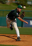 04 Jun 2006 Lincoln, NE Manhattan University pitcher Matt Nevins starts the second game against Miami for the Jaspers after finishing the first one for them earlier in the day against San Francisco during the NCAA Baseball Regionals at Hawks Field at Haymarket Park in Lincoln, Ne Sunday evening.(Chris Machian/Prairie Pixel Group)