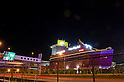 July 9, 2011 - Yokohama, Japan - A love hotel in a shape of a boat is shown along the freeway in Yokohama. Love hotels are used for short stays which are commonly used by couples to conduct intimate activities. Love hotels are popular especially among young Japanese couples that still live with their parents and want to have a place to spend a private moment together with their partner. Many of these hotels are also known to be used for prostitution activities.