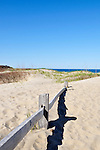 Coast Guard Beach fence in dunes Cape Cod National Seashore, Eastham