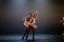 London, UK. 25.02.2014. Ballet Black in A DREAM WITHIN A MIDSUMMER NIGHT'S DREAM, choreographed by Arthur Pita, in the Linbury Studio, Royal Opera House. the piece is included in a triple bill of works. Picture shows: Cira Robinson (Titania) and Damien Johnson (Oberon).   Photograph © Jane Hobson.