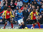 Barrie McKay goes past David Amoo and Mustapha Dumbuya