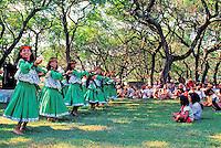 EDITORIAL ONLY. Hula performance at Ka Hula Piko Festival on Molokai