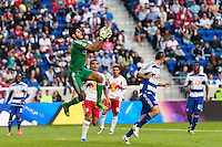 FC Dallas goalkeeper Raul Fernandez (1). The New York Red Bulls defeated FC Dallas 1-0 during a Major League Soccer (MLS) match at Red Bull Arena in Harrison, NJ, on September 22, 2013.