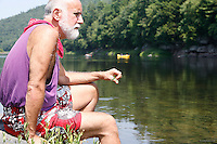 Environmental activist Pat Carullo looks over the Upper Delaware River near his home in Lackawaxen, PA. Carullo is a member of Damascus Citizens for Sustainability (www.damascuscitizens.org), a non-profit group fighting natural gas drilling in the Delaware River watershed. &quot;Look at this,&quot; says Carullo, &quot;New York City drinking water, Philadelphia drinking water. The idea of 35,000 wells in these hills, the idea of it kills me.&quot; <br />