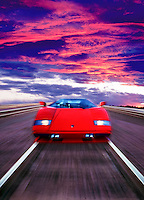 Red Ferarri, Moving, Italian sports car manufacturer based in Maranello, Italy Founded by Enzo Ferrari