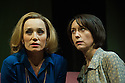 London, UK. 21.01.2013. Kristin Scott Thomas, Rufus Sewell and Lia Williams star in OLD TIMES, the first of Pinter's plays to be staged at the West End theatre that was renamed in the playwright's honour last year. Kristin and Lia alternate the roles of Anna and Kate. This picture shows Kristin Scott Thomas as Anna and Lia Williams as Kate. Rufus Sewell plays Deeley. Directed by Ian Rickson. Lighting design by Peter Mumford. Set and costume design by Hildegard Bechtler. Photo credit: Jane Hobson.