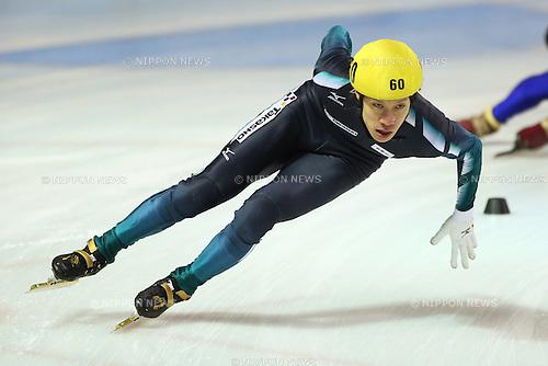 Ryosuke Sakazume (JPN), .January 27, 2013 - Short Track Skating : .The 68th Winter National Sports Festival, .Short Track Skating Men's 1000 .at Edogawa Sport Land, Tokyo, Japan. .(Photo by Daiju Kitamura/AFLO SPORT)