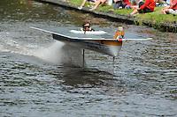 ALGEMEEN: SNEEK: 02-07-2014, DONG Energy Solar Challenge, TU Delft Solar Boat Team (#T65), ©foto Martin de Jong