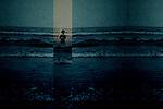 A figure in the sea