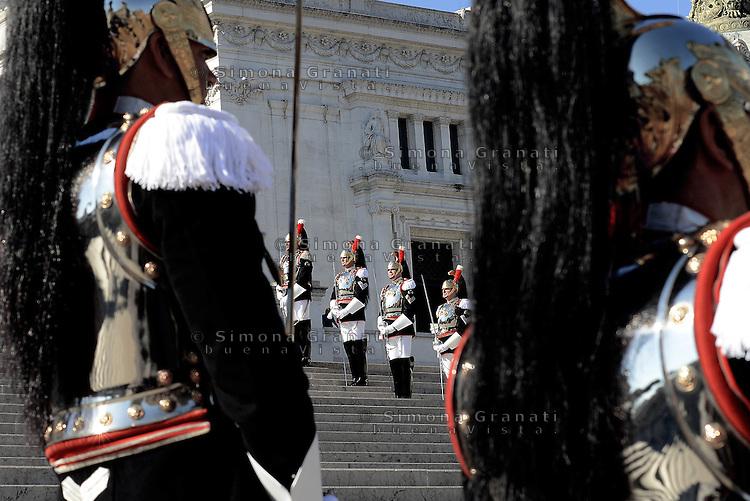 Roma, 2 Giugno 2015<br /> Altare della Patria.<br /> Corazzieri.