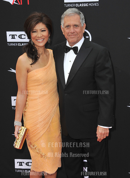 NBC boss Les Moonves &amp; wife Julie Chen at the 41st AFI Life Achievement Award honoring Mel Brooks at the Dolby Theatre, Hollywood.<br /> June 6, 2013  Los Angeles, CA<br /> Picture: Paul Smith / Featureflash