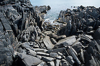 Rocky coastal geology at Black Point, Kangaroo Island, South Australia.