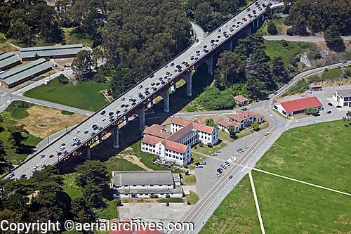 aerial photograph Doyle Drive Presidio of San Francisco