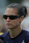 20 June 2009: Nicci Wright, Goalkeeper Coach of the Washington Freedom.  Saint Louis Athletica were defeated by the visiting Washington Freedom  0-1 in a regular season Women's Professional Soccer game at AB Soccer Park, in Fenton, MO.