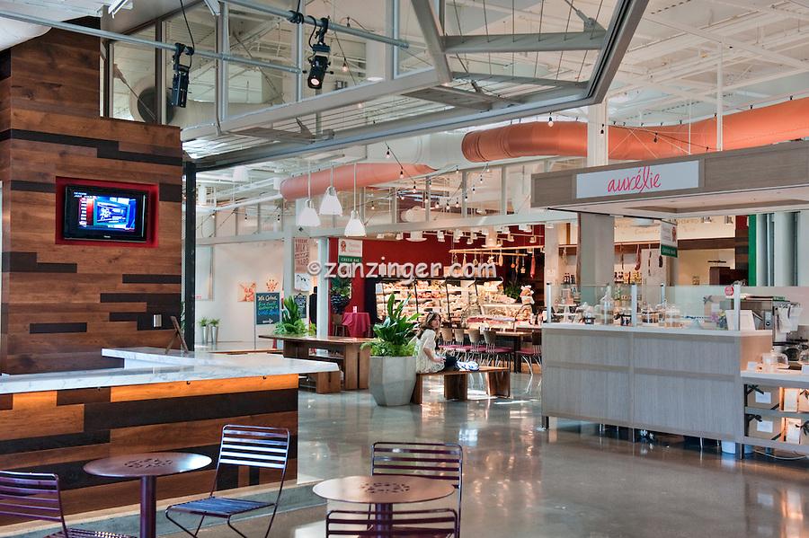 Santa Monica, Place, Mall, The Market, Fast food, Restaurants,  modern, open-air shopping destination, Santa Monica CA,