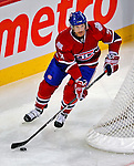 31 January 2009: Montreal Canadiens' defenseman Patrice Brisebois starts a rush in the second period against the Los Angeles Kings at the Bell Centre in Montreal, Quebec, Canada. The Canadiens defeated the Kings 4-3. ***** Editorial Sales Only ***** Mandatory Photo Credit: Ed Wolfstein Photo