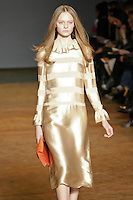 Nimue Smit walks runway in an outfit from the Marc by Marc Jacobs Fall/Winter 2011 collection, during New York Fashion Week, Fall 2011.