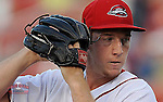 Starting pitcher Teddy Stankiewicz (19) of the Greenville Drive in a game against the Asheville Tourists on Wednesday, April 23, 2014, at Fluor Field at the West End in Greenville, South Carolina. Stankiewicz was a 2nd Round pick of the Boston Red Sox in the 2013 First-Year Player Draft. He is Boston's No. 19 prospect, according to Baseball America. (Tom Priddy/Four Seam Images)