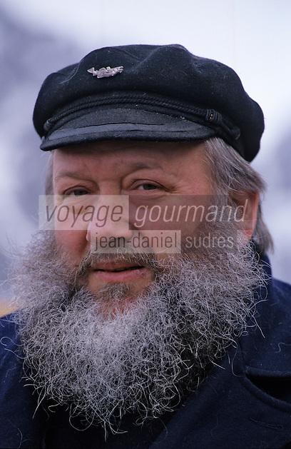 Europe/Norvège/Iles Lofoten/Svolvaer: Portrait d'un capitaine de Navire