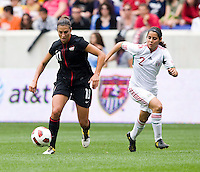 Carli Lloyd, Kenti Robles. The USWNT defeated Mexico, 1-0, during the game at Red Bull Arena in Harrison, NJ.