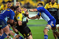 Jeff Toomaga-Allen in action during the Super Rugby match between the Hurricanes and Stormers at Westpac Stadium in Wellington, New Zealand on Friday, 5 May 2017. Photo: Dave Lintott / lintottphoto.co.nz