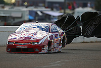 Aug 19, 2016; Brainerd, MN, USA; NHRA pro stock driver Greg Anderson during qualifying for the Lucas Oil Nationals at Brainerd International Raceway. Mandatory Credit: Mark J. Rebilas-USA TODAY Sports