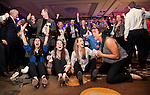 During the Duke Forward Dallas event, most if not all, of the attendees stop to cheer Duke&rsquo;s mens basketball come from behind victory over the University of Virginia in the waning seconds of the game on Saturday, January 31st 2015.<br /> Photo by Chris Hildreth/Duke Photography