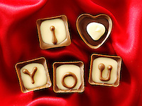 """ I love you "" chocolates stock photos for Valentines or any love message. The perfect ""I love you"" stock image. Ready to cut out from Funky Stock Photos library."