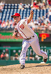 25 July 2013: Washington Nationals pitcher Ian Krol on the mound in his second career appearance, blowing the save in the 9th, but getting the win against the Pittsburgh Pirates at Nationals Park in Washington, DC. The Nationals salvaged the last game of their series, winning 9-7 ending their 6-game losing streak. Mandatory Credit: Ed Wolfstein Photo *** RAW (NEF) Image File Available ***