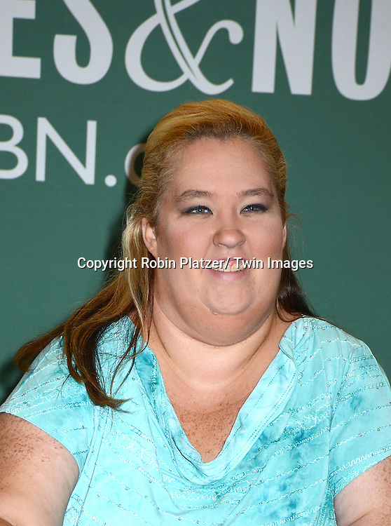 "June Shannon at a book signing for ""How To Honey Boo Boo"" on July 15, 2013 at Barnes & Noble  in the Citicorp Building in New York City."