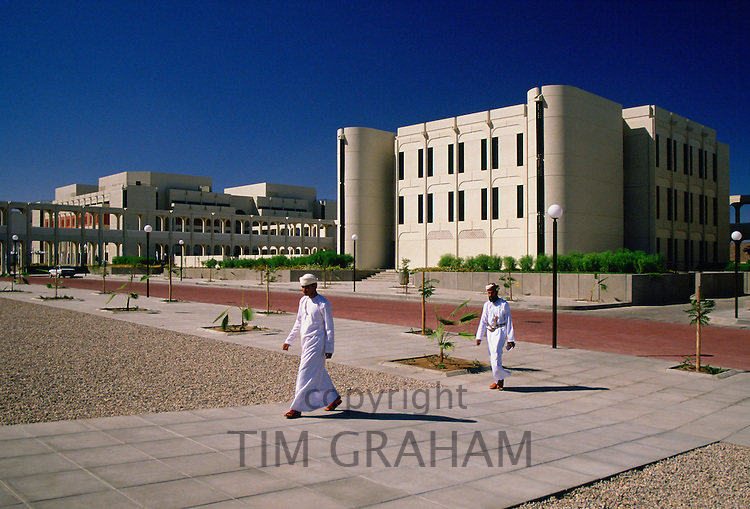 Omani  men at the University of Oman in Muscat, Oman