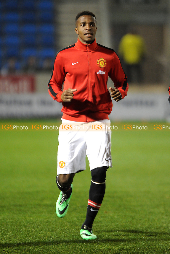 Wilfried Zaha of Manchester United warms up ahead of the match - Manchester United Under-21 vs Middlesbrough Under-21 - Barclays Under-21 Premier League Football at Salford City Stadium, Manchester - 20/01/14 - MANDATORY CREDIT: Greig Bertram/TGSPHOTO - Self billing applies where appropriate - 0845 094 6026 - contact@tgsphoto.co.uk - NO UNPAID USE