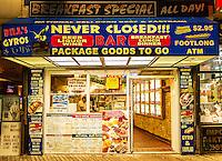 Greek food joint on boardwalk, Atlantic City, New Jersey, USA