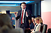 Labour Party Leadership and Deputy Leadership Hustings - East of England - The first of Labour&rsquo;s Leadership and Deputy Leadership regional and national hustings moderated by Gaby Hinsliff at The Forum Banqueting Suites Stevenage  20 June 2015 <br /> <br /> <br /> <br /> leader candidates <br /> <br /> Andy Burnham<br /> <br /> Yvette Cooper<br /> <br /> <br /> <br /> <br /> <br /> Photograph by Elliott Franks <br /> <br /> <br /> <br />  <br /> Image licensed to Elliott Franks Photography Services