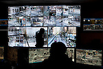 Police surveillance headquarters in Atlanta. In the next few years police hope to have more then 10,000 cameras to watch Atlantans.