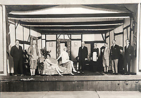 BNPS.co.uk (01202 558833)<br /> Pic: PhilYeomans/BNPS<br /> <br /> Putting on a play at the Ootacamund Assembly Rooms, where the British escaped the heat and the dust of the lowlands during the summer months. <br /> <br /> Last Days of the Raj - A fascinating family album from one of the last Viceroy's of India reveal Britain's 'Jewel in the Crown' in all its splendour.<br /> <br /> The family album of Viscount George Goschen has been unearthed after 90 years, and provide's an amazing snapshot of the pomp and pageantry of a wealthy and powerful British family in India in the 1920s and 30's.<br /> <br /> They show the Governor of Madras and his family enjoying a lavish lifestyle of parades, banquets and hunting and horse racing in the last decades of the Raj.<br /> <br /> At the time, Gandhi was organising peasants, farmers and labourers to protest against excessive land-tax and discrimination. <br /> <br /> The album consists of some 300 large photographs. They have remained in the family for 90 years but have now emerged for auction following a house clearance and are tipped to sell for &pound;200.