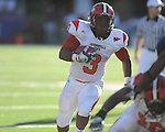 Jacksonville State running back Calvin Middleton (3) rushes at Vaught-Hemingway Stadium in Oxford, Miss. on Saturday, September 4, 2010. Jacksonville State won 49-48 in double overtime.