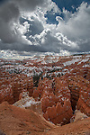 Clouds forming over Bryce Canyon National Park in the spring