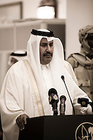 Qatar - Doha - Parliament of Qatar, Emir Diwanya,  Prime Minister of Qatar Sheikh HAMAD bin Jasim bin Jabir al-Thani  during the speach for the Darfur Peace Agreement
