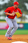 7 March 2012: St. Louis Cardinals infielder Zack Cox warms up prior to a game against the Washington Nationals at Space Coast Stadium in Viera, Florida. The teams battled to a 3-3 tie in Grapefruit League Spring Training action. Mandatory Credit: Ed Wolfstein Photo