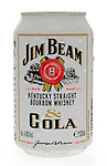 Can of Jim Beam Bourbon and Cola