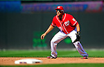 29 August 2010: Washington Nationals infielder Michael Morse in action against the St. Louis Cardinals at Nationals Park in Washington, DC. The Nationals defeated the Cards 4-2 to take the final game of their 4-game series. Mandatory Credit: Ed Wolfstein Photo