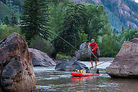 Ken Hoeve fishing for trout on the Crystal River using a Jackson Kayak SUPer FISHal stand up paddle board.
