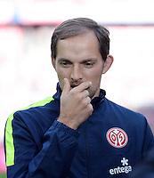 Fussball  1. Bundesliga  Saison 2013/2014  9. Spieltag FC Bayern Muenchen - 1. FSV Mainz     19.10.2013 Trainer Thomas Tuchel (1. FSV Mainz 05) nachdenklich